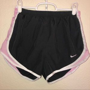 NIKE black & pink fit dry athletic running shorts